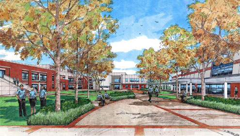 Artist's impression of the new Police Academy