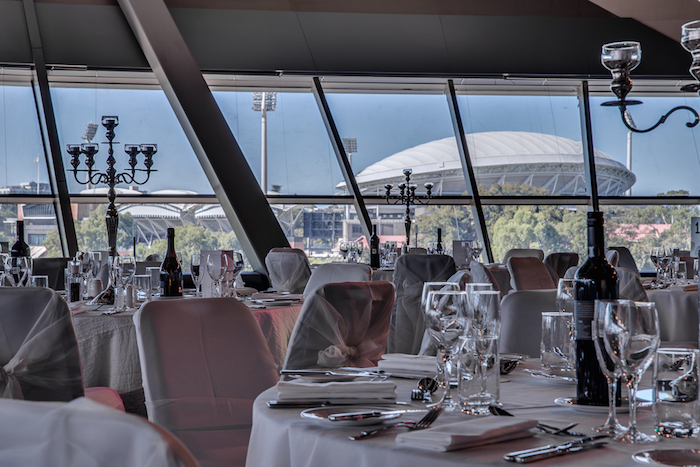 The stunning views from the Panorama Ballroom at the Adelaide Convention Centre.