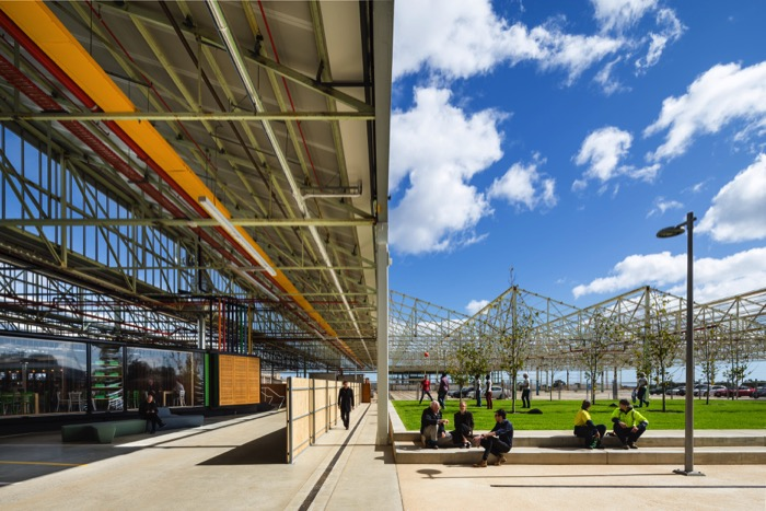 Tonsley Main Assembly Building and Pods, Woods Bagot and Tridente Architects, Photo Sam Noonan