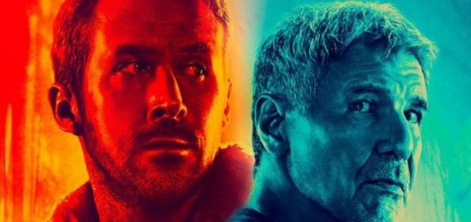 photo of ryan gosling and harrison ford in blade runner 2049
